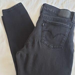 Levi's 710 Super Skinny Black Sz 30